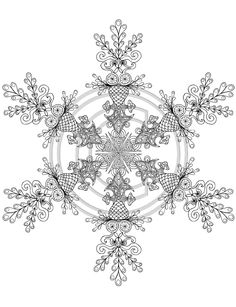 snowflake mandala coloring pages - Google Search | Coloring pages ...