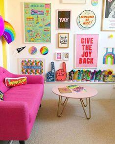 Colourful living room decor colourful
