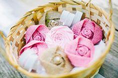 Rosa tela fiore rosa rosetta Shabby Chic di bellerosedesigns