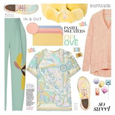 """So Sweet: Pastel Sweaters"" by ewa-naukowicz-wojcik ❤ liked on Polyvore featuring STELLA McCARTNEY, By Malene Birger, Shrimps, Emilio Pucci, Roksanda, Mark & Graham and pastelsweaters"