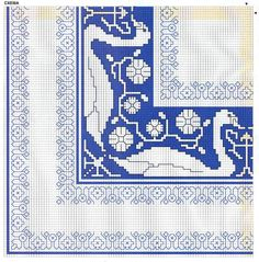 (1) Gallery.ru / Фото #172 - 151 - markisa81 Cross Stitch Borders, Cross Stitch Charts, Cross Stitch Designs, Cross Stitch Patterns, Bargello Needlepoint, Needlepoint Stitches, Needlework, Embroidery Art, Cross Stitch Embroidery