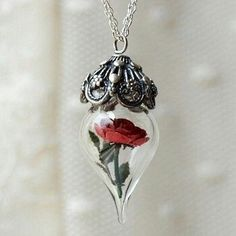 Beauty and the Beast inspired necklace