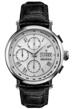 Dreyfuss Gents Automatic Leather Strap Chronograph Watch DGS00050-21
