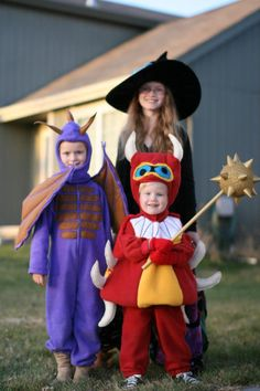 Skylanders Costumes:  Wham Shell, Spyro, Hex