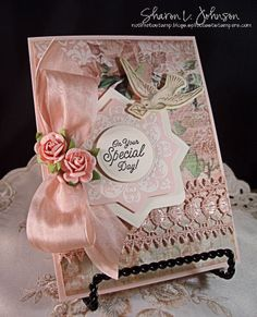 On Your Special Day.  JustRite, Kaisercraft, May Arts and Prima products available at The Stamp Simply Ribbon Store.