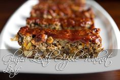 Glazed Lentil Apple Walnut Loaf | 28 Delicious Vegan Holiday Recipes