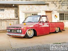 """Ever hear the old adage """"Don't judge a book by its cover""""? In the case of this Jeremy Dudley's 1972 Toyota Hilux, it couldn't apply more. Read more about it in our Construction Zone, only in Issue 4 of Mini Truckin' Magazine!"""