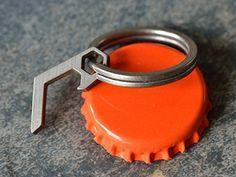 Titanium Pico Bottle Opener Tiny and tough. This tiny titanium bottle opener if perfect for the keychain. It uses the split ring for leverage allowing the opener to remain small. Purchase