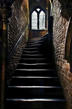 Medieval Staircase ~ Brown's Hospital, Stamford ~ Browne's Hospital is a… Chateau Medieval, Medieval Castle, Gothic Castle, Slytherin Aesthetic, Stairway To Heaven, Abandoned Places, Abandoned Library, Stairways, Hogwarts