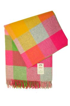 April Throw by Avoca, love these colors!