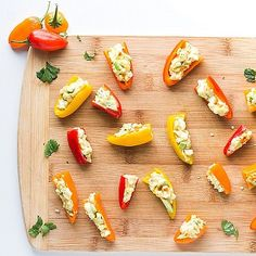 Avocado-Egg Salad Stuffed Mini Peppers