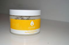 Ochre body salt scrub sensitive skincare products on The Monochromes