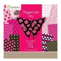 Papier origami Mini Girly 240 feuilles AVENUE MANDARINE : Chez Rentreediscount Loisirs créatifs Pochette Portable, Girly, Mini, Bunny, Creative Art, Leaves, Creative Crafts, Women's, Girly Girl
