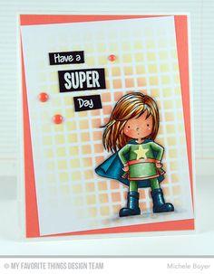 You're Super, Grid Stencil - Michele Boyer #mftstamps