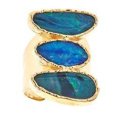 3 Stone Opal Ring (Agean) - Margaret Elizabeth