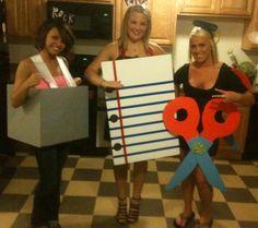 Alpha Gam Girls: rock paper scissors!