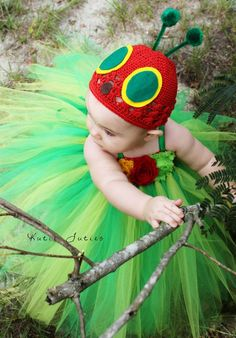 The Hungry Caterpillar Hat- Birthday, Halloween, Costume, Pageant, baby girl, infant, toddler, child, photo prop on Etsy, $19.95
