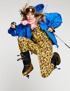 ELLE Editorial: Style Inspiration for the Slopes and the Streets Ski Fashion, Winter Fashion, Apres Ski Outfits, Alpine Style, Ski Girl, Snow Outfit, Ski Wear, Cotton Jumpsuit, Ski Boots