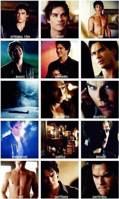 emotions of damon salvatore- i personally like.. them all. i like them all.