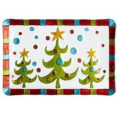 Whimsical Christmas tree platter!