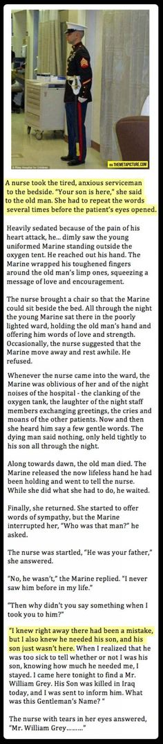 Awwwwwww :( I love reading things like this it makes me realize that there really are good people in the world. Faith in humanity restored yet again! I Look To You, Look Here, Touching Stories, Sad Stories, Sweet Stories, Beautiful Stories, Military Love Quotes, Military Memes, Shining Tears