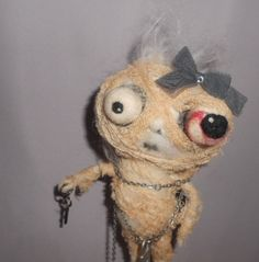 Misty the MUMMY  needle felted art doll by papermoongallery, $59.00