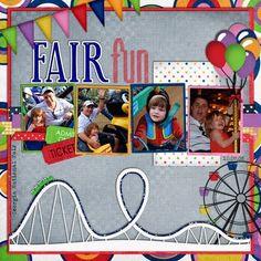 scrapbook page, amusement park, photos - Google Search
