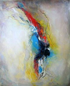 Gayle L. Curry...  The purpose of her work is to find a way to express a vision without being literal; she explores form, shape and color and work them on the canvas until she evokes emotion.