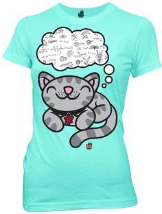 ThinkGeek :: Soft Kitty Dreams of Equations Babydoll