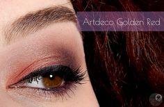 Smokey red golden purple make up