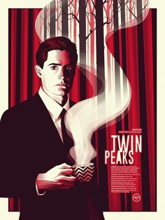 """Twin Peaks"" - Screen Print - Edition of made for a collective art show tribute to David Lynch at Spoke Art Gallery, NYC. David Lynch, Laura Palmer, Twin Peaks Return, Usa Tv Shows, Twin Peaks Poster, Tv Movie, Movies, Films, Kyle Maclachlan"