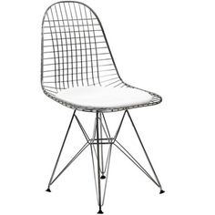 Wire Tower White Vinyl CushionSide Chair - 14230566 - Overstock.com Shopping - Great Deals on Modway Dining Chairs