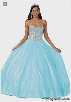 tiffany blue and white quinceanera dress 2017-2018 » DreaMyDress