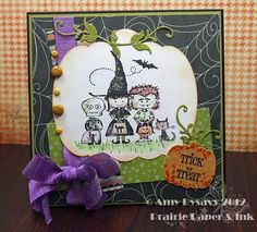 Card #8 from my 2012 Halloween Card Series by AmyR of Prairie Paper & Ink