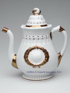ELSMORE & FORRESTER COPPER-LUSTRE-DECORATED TEAPOT