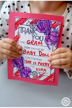 Super sweet printable thank you cards kids can color!