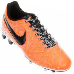 Chuteira Nike Flare 2 FG Campo Masculina Laranja / Preta
