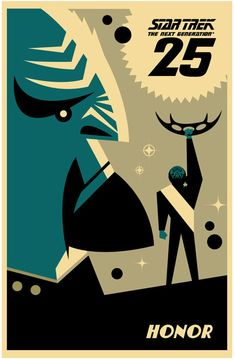 Star Trek: The Next Generation's 25th Anniversary print - Worf