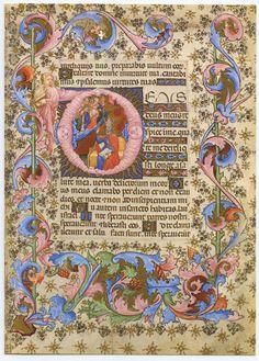 Vintage Bible Illuminated Manuscript Page Psalm 21 by Boniflower