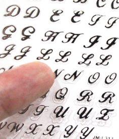 Buy 2 get 1 Free 313 Silver Alphabet Nail sticker. by tigerlilies, $2.99