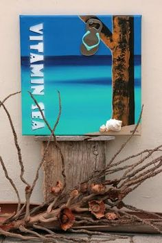 Need some Vitamin Sea? Get it right at home with this amazing canvas. Keep your drink at hand because it includes a fun flipflop bottle opener. Now with 50% discount! From $42,10 for $21,05 (Nafl.37,50) http://www.dushideals.com/curacao-canvas-50-discount.html