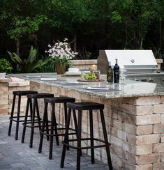 Consider Adding Bar Style Seating To Your Outdoor Kitchen So You Can Easily Interact With