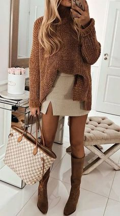 winter outfits for work . winter outfits for school . winter outfits for going out . Chic Winter Outfits, Trendy Fall Outfits, Winter Fashion Outfits, Autumn Fashion, Autumn Outfits, Winter Dresses, Winter Fashion Women, Casual Christmas Outfits, Crazy Outfits