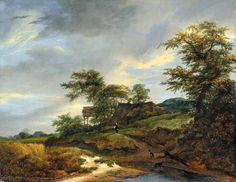 Weg door de duinen, Jacob Isaaksz van Ruisdael, 1648. Frans Hals Museum