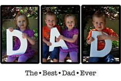 I did this with my brothers kids - for his father day the past 3 years - they turn out adorable each time!