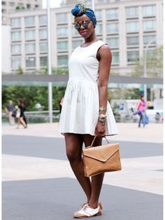 #NYFW Street Style: Joy's style is vintage, spontaneous, unique, and inspired by her mom. - My BFF Joy on Seventeen Mag's Pinterest!!