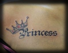 Princess with crown tattoo