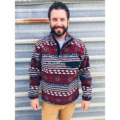 Patagonia Men's Synchilla Snap-T Fleece Pullover- Saltillo Cinder Red Patagonia Pullover, Patagonia Jacket, Cinder, Preppy, Style Me, Men Sweater, Winter Jackets, Men Casual, Mens Fashion