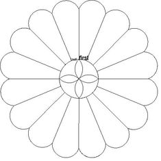 16 Blade Dresden Plate Template  sc 1 st  Pinterest & Changing the center of a Dresden Plate quilt block | quilt blocs and ...