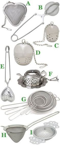 Accessories to dangle off the side? How to choose the right tea strainer for your tea. (ETS images – montage by A.C. Cargill)